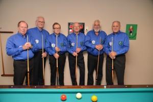 Team Pieter Stuyvesant. v.l.n.r. Jan Ketellapper, Foeke Heida,Bert van den Dungen, Arie van Bodegom,Ton Valkenburg, Cees van den Akker.