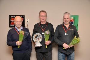 Winnaar Bedrijven Team Biljart 2014 -2015. v.l.n.r. Jack Stallman, Leo Ruitenberg en Piet Brandsma.
