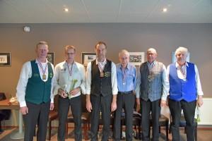 v.l.n.r. Durk van Wier, Dronrijp.W.H. Nicolay, Britsum,S.Krul, Dirk v/d Veen,B. Oegema, Jan Wiemers,J. Stelwagen , Bc Gorredijk,K. Bosma, De Friesche club.