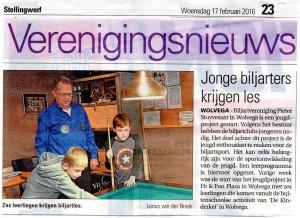 "Publicatie Courant ""Stellinwerf"" 17 februari 2016"